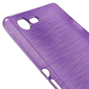 Brushed gélový obal pre mobil Sony Xperia E3 - fialový - 4
