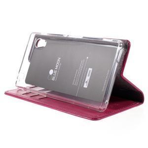 Moons PU kožené klopové pouzdro na Sony Xperia M4 Aqua - rose - 4