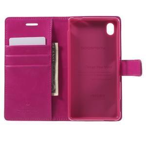 Moon PU kožené puzdro pre mobil Sony Xperia M4 Aqua - rose - 4