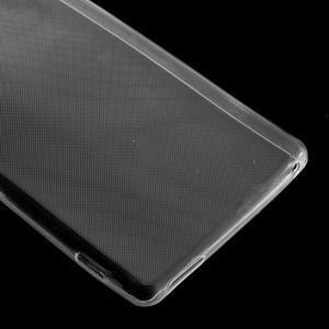 Ultratenký slim gelový obal na mobil Sony Xperia M4 Aqua - transparentní - 4