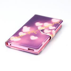 Emotive pouzdro na mobil Sony Xperia M4 Aqua - srdíčka - 4