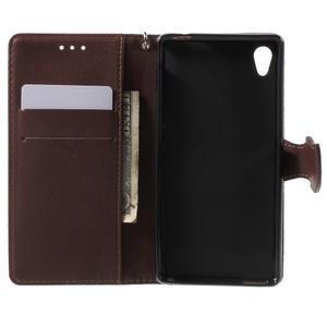 Leaf PU kožené puzdro pre mobil Sony Xperia M4 Aqua - zelené - 4