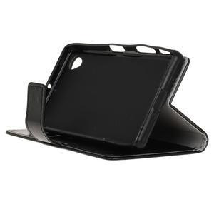 Horse PU kožené puzdro pre Sony Xperia X - čierne - 4