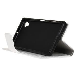Horse PU kožené puzdro pre Sony Xperia X - biele - 4