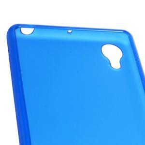 Matný gélový obal pre mobil Sony Xperia X - modrý - 4