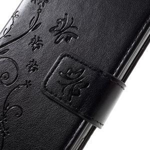 Butterfly PU kožené pouzdro na Sony Xperia X - černé - 4
