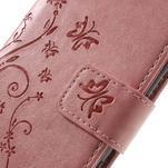 Butterfly PU kožené pouzdro na Sony Xperia X - růžové - 4/7