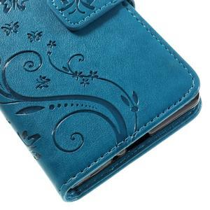 Butterfly PU kožené puzdro pre Sony Xperia X - modré - 4