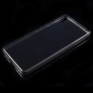 Ultratenký 0.5 mm gélový obal pre Sony Xperia X - sivý - 4