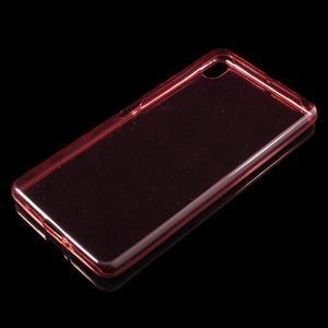 Ultratenký 0.5 mm gelový obal na Sony Xperia X - červený - 4