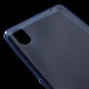 Ultratenký 0.5 mm gélový obal pre Sony Xperia X - tmavomodrý - 4