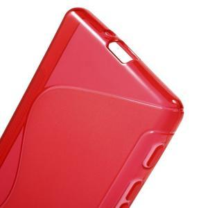 S-line gelový obal na Sony Xperia X - červený - 4