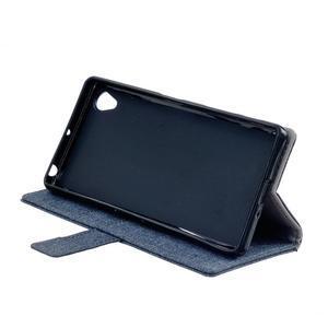 Texture puzdro pre mobil Sony Xperia X - tmavomodré - 4