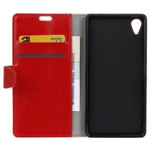 Horse PU kožené pouzdro na Sony Xperia X - červené - 4