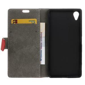Walle Peňaženkové puzdro pre Sony Xperia X - červené - 4