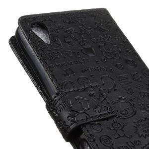 Cartoo Peňaženkové puzdro pre Sony Xperia X - čierne - 4