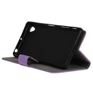 Walle Peňaženkové puzdro pre Sony Xperia X - fialové - 4