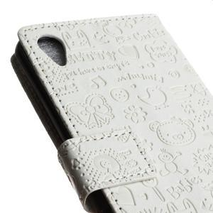 Cartoo peněženkové pouzdro na Sony Xperia X - bílé - 4
