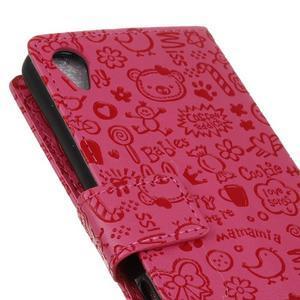 Cartoo peněženkové pouzdro na Sony Xperia X - rose - 4