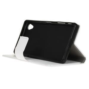 Grain koženkové pouzdro na Sony Xperia X - bílé - 4