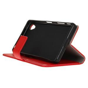 Grain koženkové puzdro pre Sony Xperia X - červené - 4