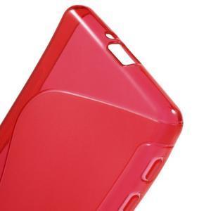 S-line gelový obal na mobil Sony Xperia X Performance - červený - 4