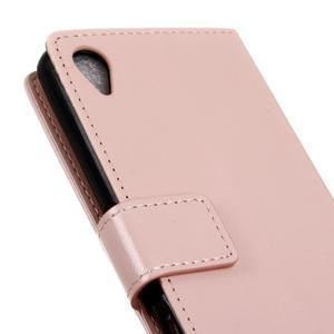 Horse Peňaženkové puzdro pre Sony Xperia X Performance - ružové - 4