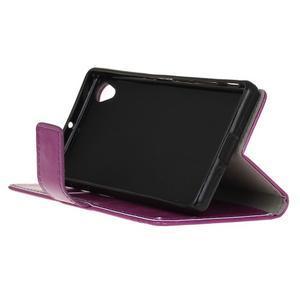 Horse Peňaženkové puzdro pre Sony Xperia X Performance - fialové - 4