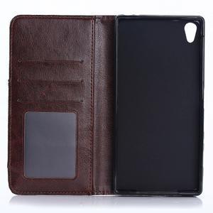 Jeans Peňaženkové puzdro pre mobil Sony Xperia XA - černomodré - 4