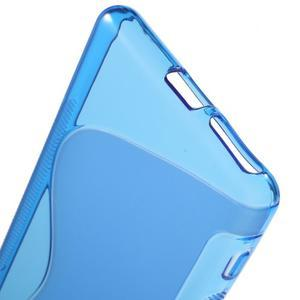 S-line gélový obal pre mobil Sony Xperia XA - modrý - 4
