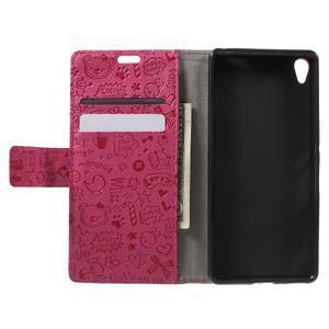 Cartoo peněženkové pouzdro na mobil Sony Xperia XA - rose - 4