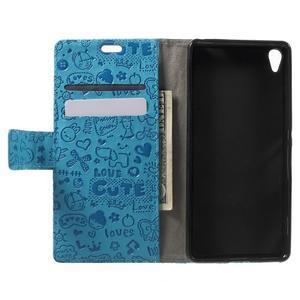 Cartoo peněženkové pouzdro na mobil Sony Xperia XA - modré - 4