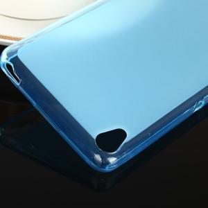Obojstranné matný gélový obal pre Sony Xperia XA - modrý - 4