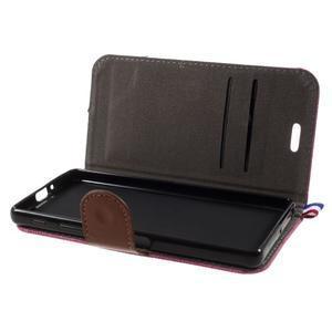 Denim textilné/koženkové puzdro pre Sony Xperia XA - rose - 4
