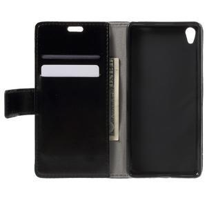 Horse PU kožené puzdro pre mobil Sony Xperia XA - čierne - 4