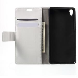 Horse PU kožené puzdro pre mobil Sony Xperia XA - biele - 4