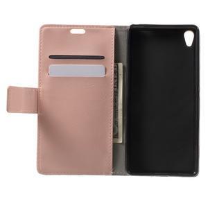 Horse PU kožené pouzdro na mobil Sony Xperia XA - růžové - 4