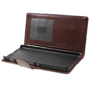 Jeansy PU kožené/textilné puzdro pre Sony Xperia XA - sivé - 4