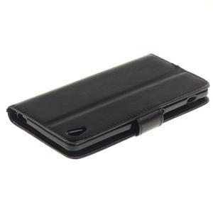 Dandely PU kožené pouzdro na mobil Sony Xperia XA - černé - 4