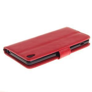 Dandely PU kožené pouzdro na mobil Sony Xperia XA - červené - 4