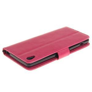 Dandely PU kožené puzdro pre mobil Sony Xperia XA - rose - 4