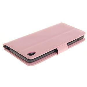 Dandely PU kožené pouzdro na mobil Sony Xperia XA - růžové - 4