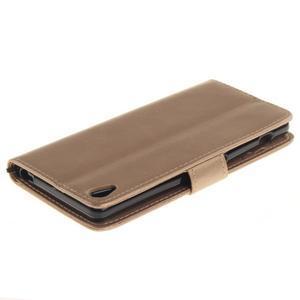 Dandely PU kožené pouzdro na mobil Sony Xperia XA - zlaté - 4