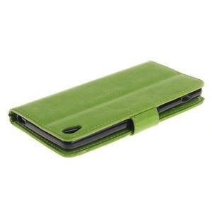 Dandely PU kožené puzdro pre mobil Sony Xperia XA - zelené - 4