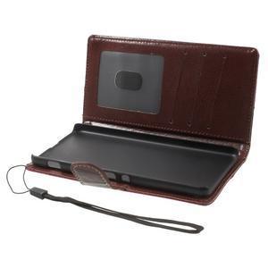 Jeansy PU kožené/textilné puzdro pre Sony Xperia XA - rose - 4