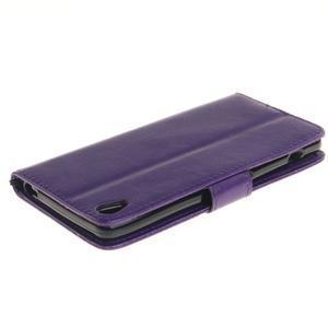 Dandely PU kožené puzdro pre mobil Sony Xperia XA - fialové - 4