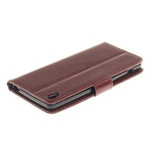 Dandely PU kožené puzdro pre mobil Sony Xperia XA - hnedé - 4