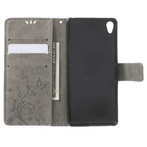 Butterfly pouzdro na mobil Sony Xperia XA - šedé - 4