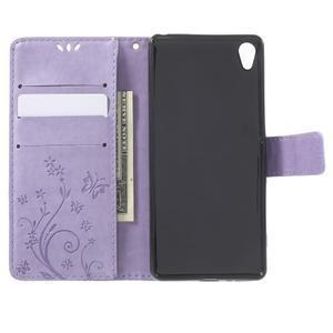 Butterfly puzdro pre mobil Sony Xperia XA - fialové - 4
