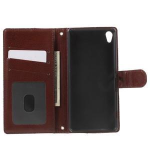 Jeansy PU kožené/textilné puzdro pre Sony Xperia XA - čierne - 4